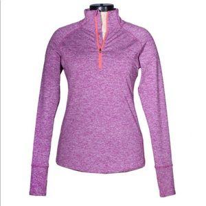 Tangerine 1/4 Zip Pullover Top Purple XXL